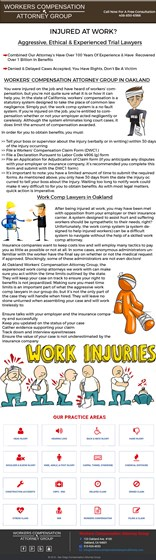WorkersCompensationLawyerCalifornia: WorkersCompensationLawyerCalifornia Infographics